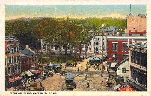 Waterbury Connecticut Vintage Postcard
