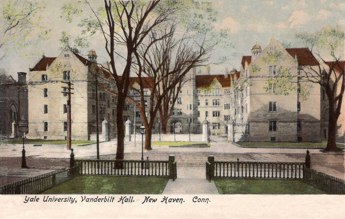 Yale University Connecticut Vintage Postcard