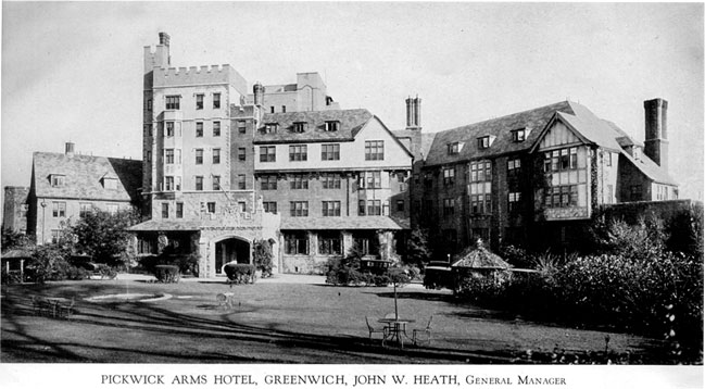 Pickwick Arms Hotel Greenwich John W Heath General Manager