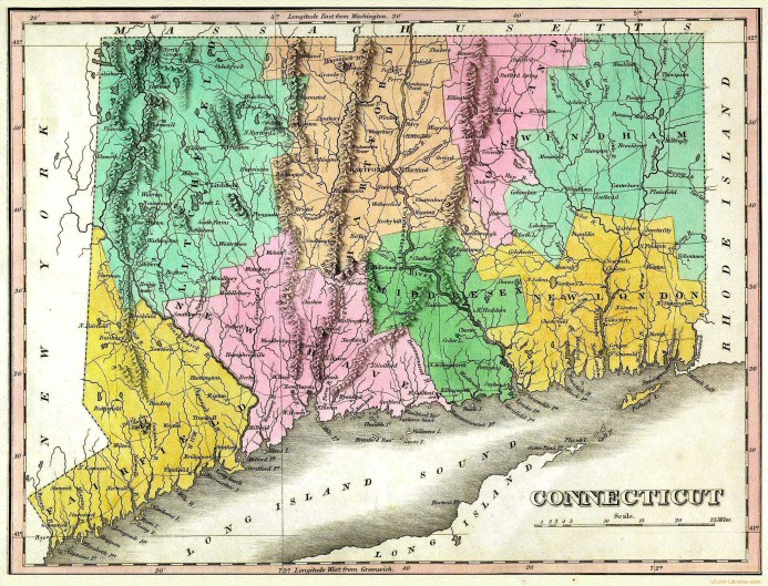 Connecticut Map 1824